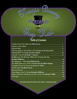 Top Hat Volume 2 Issue 11 (Sep 2015) by Michael Jay