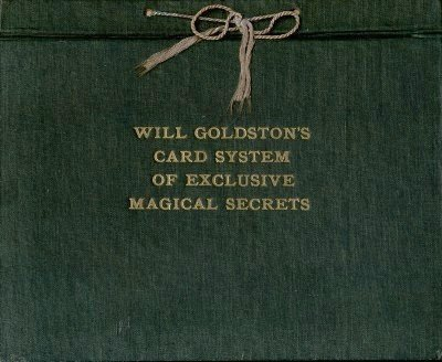 Will Goldston's Card System of Exclusive Magical Secrets by Will Goldston