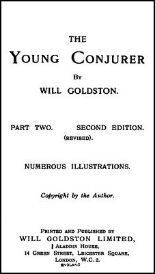 The Young Conjurer Part 2 by Will Goldston