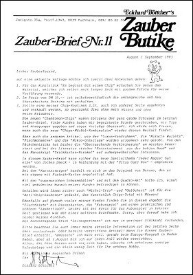 Zauber-Brief Nr. 11-20 by Eckhard Böttcher