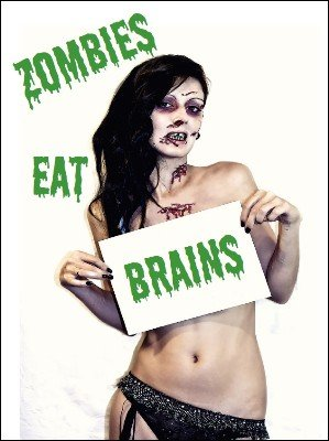 Zombies Eat Brains by Mark Piazza
